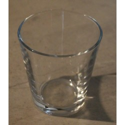 Photophore  verre conique D7.5 H7