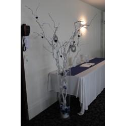 Branche d'arbre blanche
