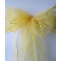Nœud de chaise organza jaune