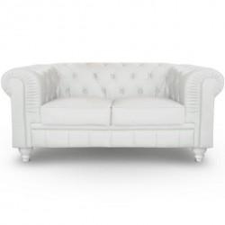 Canapé et fauteuil Chesterfield
