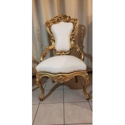 Chaise baroque trône de cérémonie