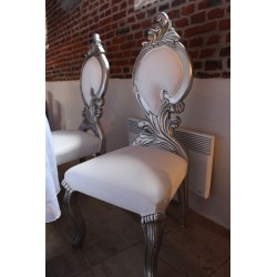 Chaise baroque argent