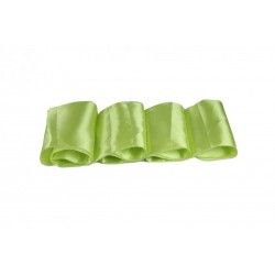 Chemin de table satin vert anis