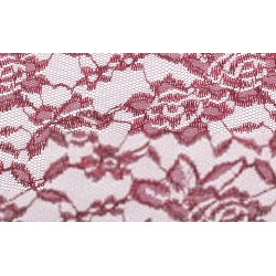 Nappe rectangle dentelle bordeaux