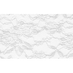 Nappe rectangle dentelle blanche