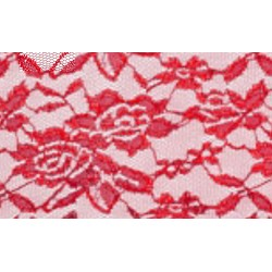 Nappe rectangle dentelle rouge