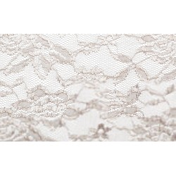 Nappe rectangle dentelle taupe