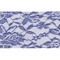Nappe rectangle dentelle bleu saphir
