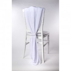 Traine de chaise mousseline blanche