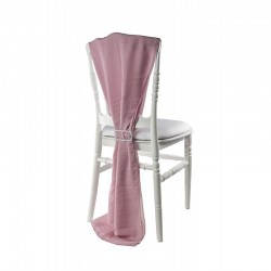 Traine de chaise mousseline nude
