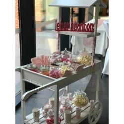 Chariot Candy bar blanc