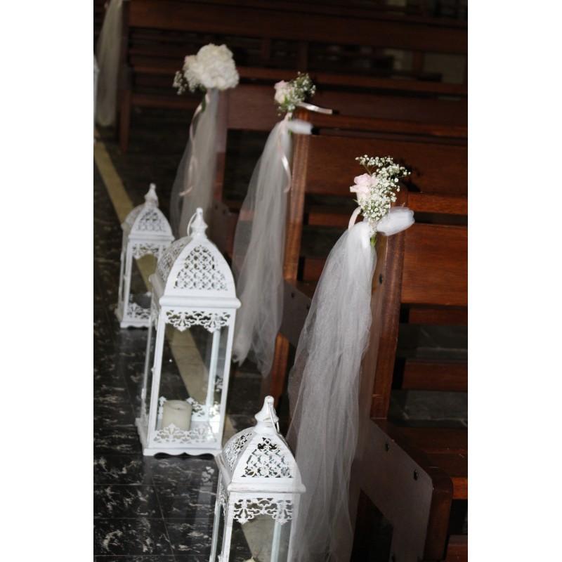 Lanterne blanche  H13.5