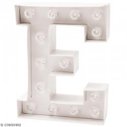 Lettre lumineuse à Led E