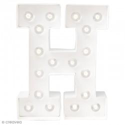 Lettre lumineuse à Led H