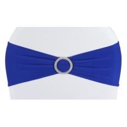 Bandeau de chaise lycra bleu roi