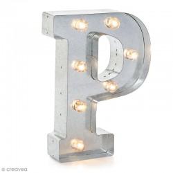 Lettre lumineuse à Led Vintage P