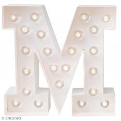 Lettre lumineuse à Led M