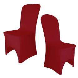 Housse de chaise bordeaux