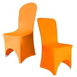 Housse de chaise orange