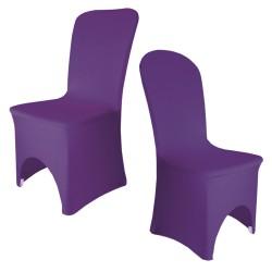 Housse de chaise violet