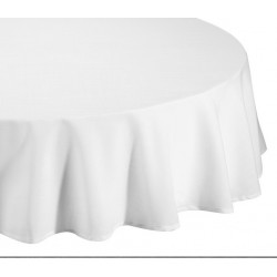 Nappe ronde blanche D240