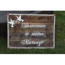 Cadre Bienvenue à notre mariage
