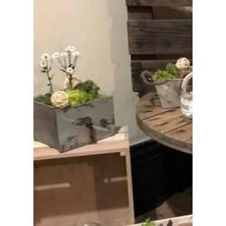 Décoration lanterne bois