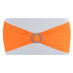 Bandeau de chaise lycra orange