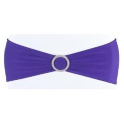 Bandeau de chaise lycra violet