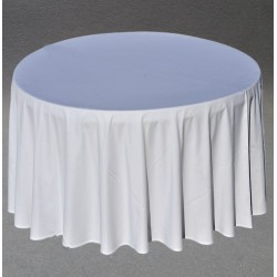 Nappe ronde blanche D300