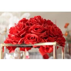 Demi boule de fleur rouge