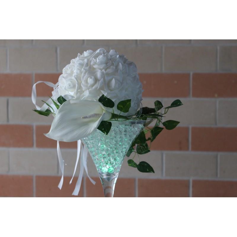 Boule de fleur blanche D20