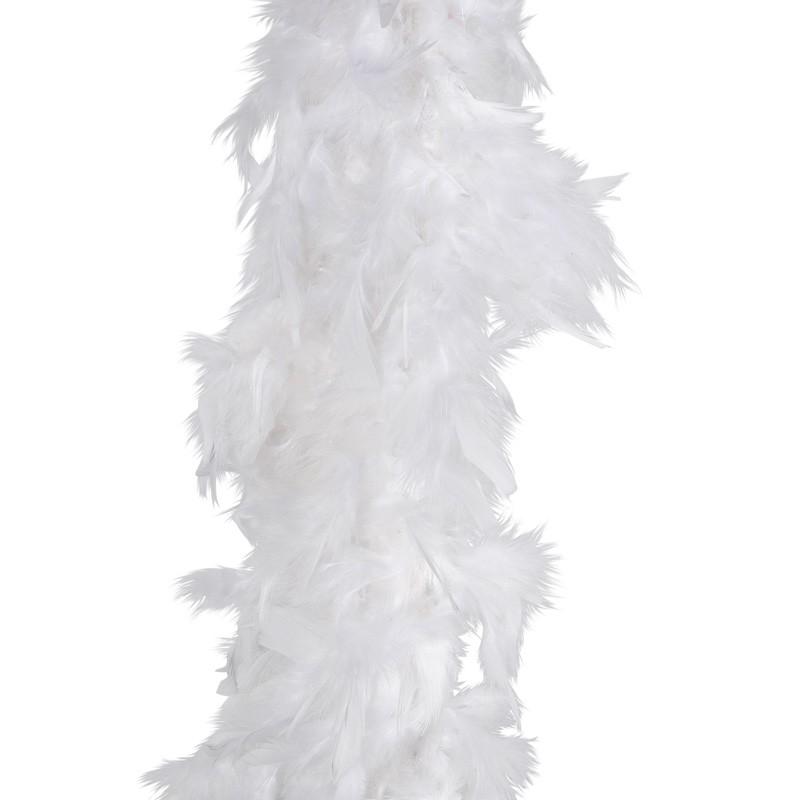 Boa de plumes blanche