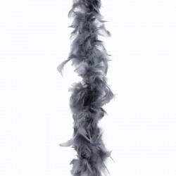 Boa de plumes grise
