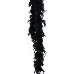 Boa de plumes noire