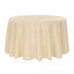 Nappe ronde champagne