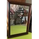 Miroir bois foncé