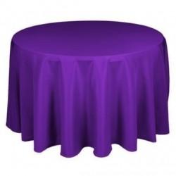 Nappe ronde violet