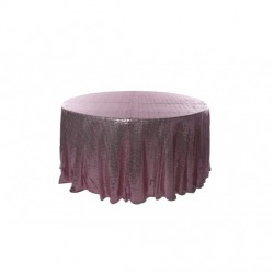 Nappe ronde sequin rose