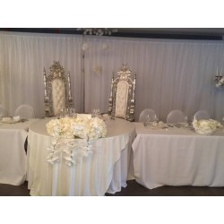 Nappe rectangle sequin blanc