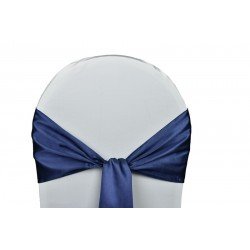 Nœud de chaise satin bleu marine