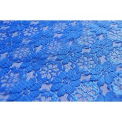 Nappe rectangle dentelle bleu