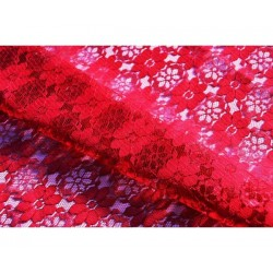 Nappe rectangle dentelle rouge sombre