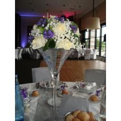 Vase martini silver H50