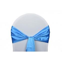 Nœud de chaise satin bleu turquoise