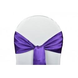 Nœud de chaise satin violet