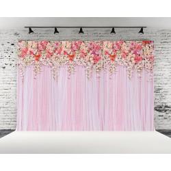 Toile de fond floral rose